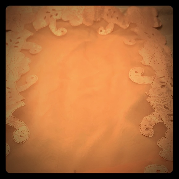 Other - Estate Item - Peach - Pink Table Runner  28 x 12